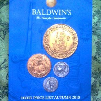 "Каталог монет ""BALDWIN'S of St James's"" (Великобритания), 2018 г."