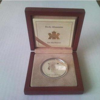 20 серебряных канадских долларов серии PROOF 2003 года.