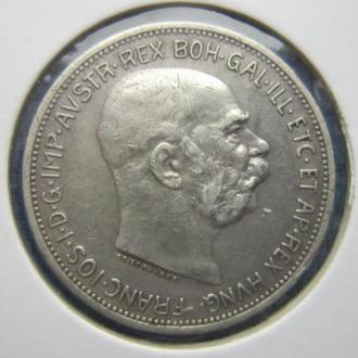 Монета 2 короны Австро-Венгрия 1913 серебро неплохая