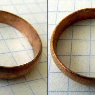 Обручальное кольцо женское 18-19 вв (медь)