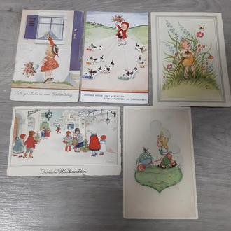 открытки Германия 5шт 1945г дети