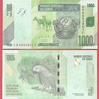 Боны Африка Конго 1000 франков 2013 г.