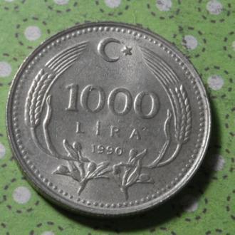 Турция 1990 год монета 1000 лир !