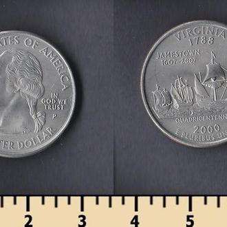 США 25 центов 2000