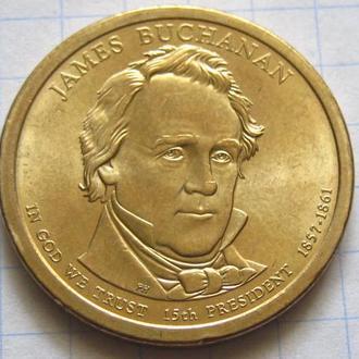 США_ 1 доллар 2010 года P  15-й президент Бьюкенен