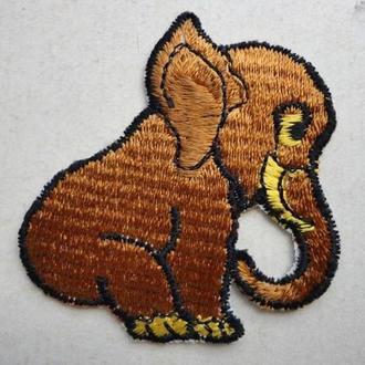 Аппликация на детскую одежду, нашивка, аплікація, слоник, слоненок, слоненя