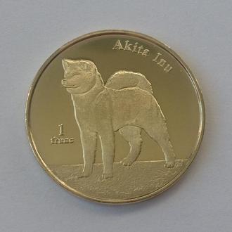 НОВИНКА. Сент Бертолеми 1 франк 2018 СОБАКА