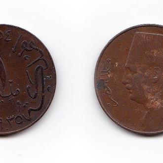 Египет 1 мильем 1935 Фуад I