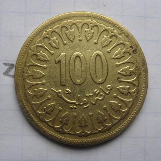ТУНИС, 100 миллим 1983 г.