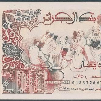 200 динар 1992 UNC Алжир 2018 новый Pick 138a.3 С новой подписью Управляющего центра банка Алжира