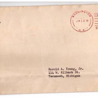 США 1955 г - конверт