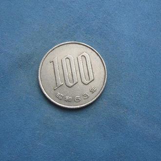 Япония 100 иен 1988 год