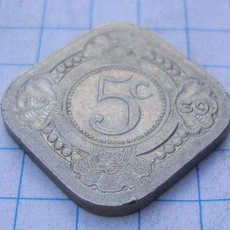 Нидерланды 5 центов - 1939