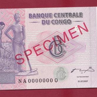 200 Франков 2007 Пробник,(15) Конго