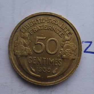 Франция, 50 сантимов 1939 года.