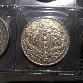 Китай 1 доллар Копия(старая) 38мм в листе