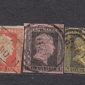 Немецкие земли, Preusen, 1850 г., первые марки