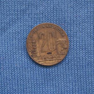 Аргентина  20 центавос 1950 г