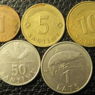 Набор монет Латвии