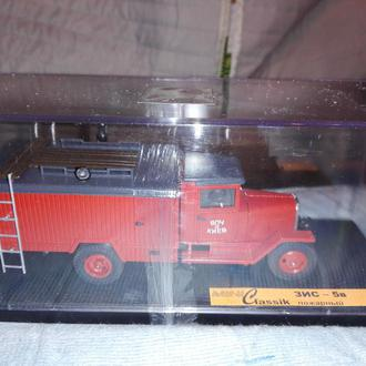 1/43 ЗИС-5В пожарный. Mini Classik.