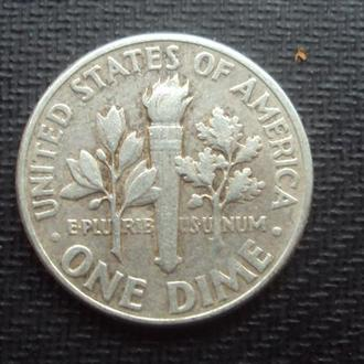 США. 1956г. 1 дайм.серебро.