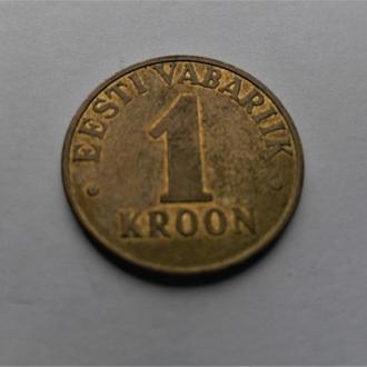 Оригинал. Эстония  1 крона 2001 год.