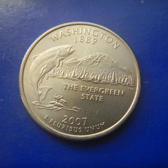 США 25 центов Вашингтон 2007 P