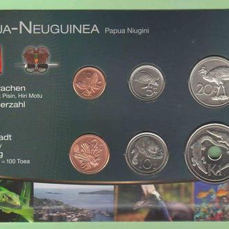 Набор монет ПАПУА НОВАЯ ГВИНЕЯ пластик картон блистер запайка