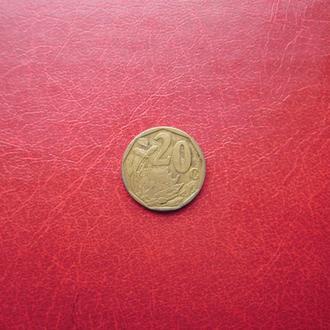 ЮАР 20 центов 1997