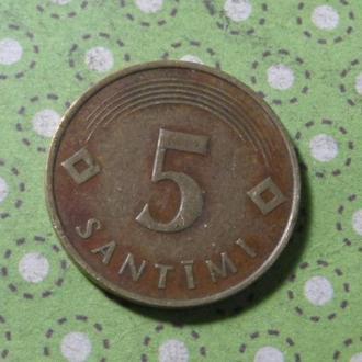 Латвия 1992 год монета 5 сантимов !