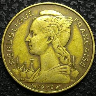 Французские Афары и Исса 20 франков 1975 год НЕ ЧАСТАЯ!!!