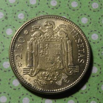 Испания 1953 год монета 2,5 песеты !