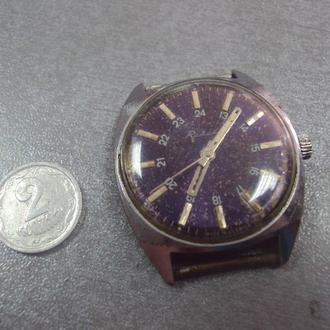 часы наручные ракета 24 часа ссср синий циферблат №473