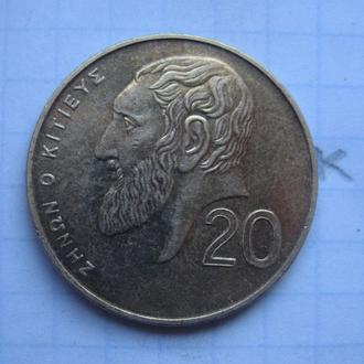 КИПР, 20 центов 2001 года.
