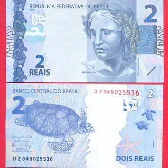 Боны Америка Бразилия 2 реала 2010 г.