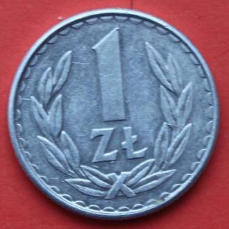 1 злотий 1986 р. Польша.