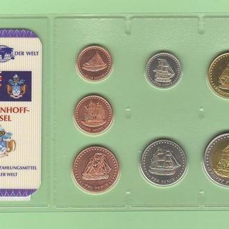 Набор монет остров СТОЛТЕНХОФФ / STOLTENHOFF набір Кораблі Корабли блистер запайка пластик R