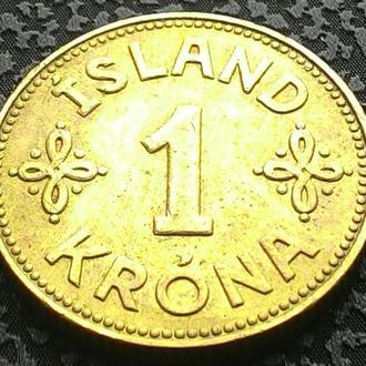 Исландия 1 крона 1940 года ОТЛИЧНЫЙ СОХРАН!!!