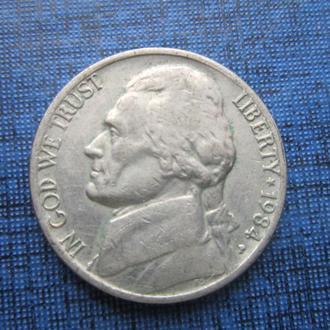 монета 5 центов США 1984 Р