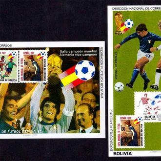 Футбол. Боливия 1992 г MNH - 2а блока