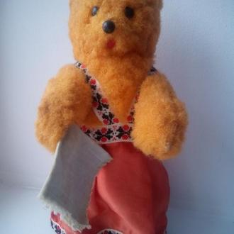 Заводная медведица плясунья в национальном игрушка кукла СССР