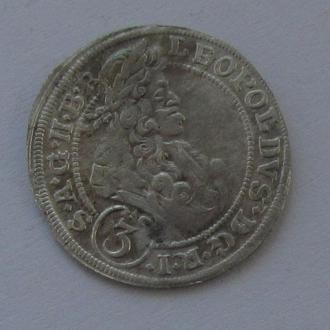 3 крейцера 1698г. Леопольд I Габсбург,  Силезия
