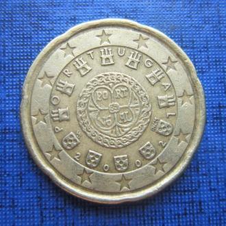 Монета 20 евроцентов Португалия 2002