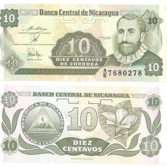Никарагуа 10 кордоба UNC