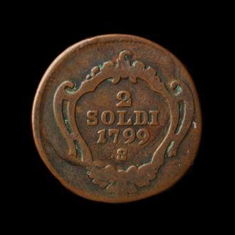 2 Сольди 1799 S,(12) Горица и Градишка, Австрия