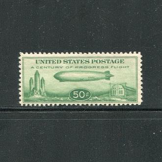 США 1933 ** АВИАЦИЯ ЦЕППЕЛИН ДИРИЖАБЛЬ