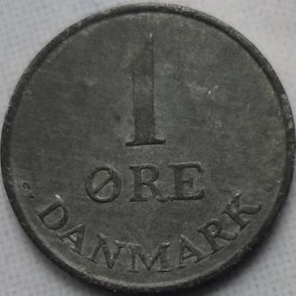 Дания 1 эре 1960 цинк