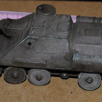 СРСР танк, танчик метал, ствол рухомий. 1/43.