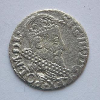 Трояк (3 гроша) 1622 года, Сигизмунд III Ваза. Серебро, подлинник.