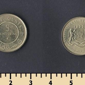Сомали 5 чентезимо 1967